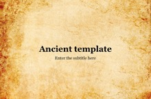 Ancient PowerPoint Template - Ancient