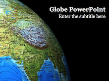 Globe PowerPoint Template - India Globe