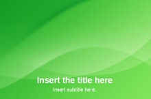 Green Powerpoint Template 1 - Abstract Green