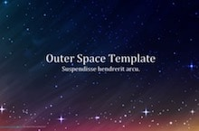Outer Space PowerPoint Template - Outer Space
