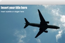 Plane Powerpoint Template 1 - Plane