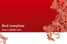 Red Powerpoint Template 1 - Red Card