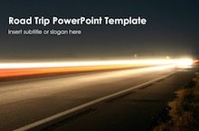 Road Trip PowerPoint Template - Road trip