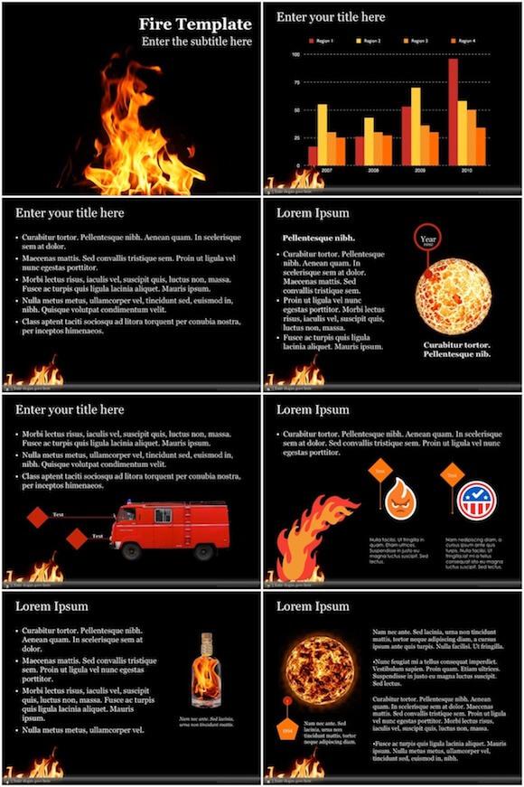 023 Fire PowerPoint Template - Fire