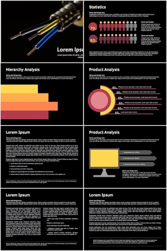 025 Cable Powerpoint Template - Cable