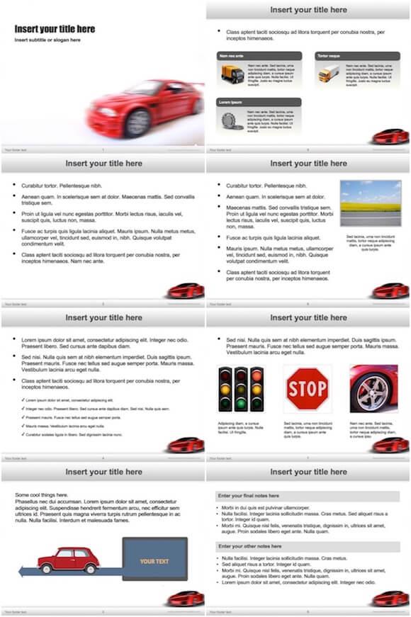 039 Race Car Powerpoint Template - Race Car