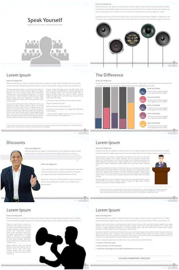 056 Speaker Audience PowerPoint Template - Speaker And Audience