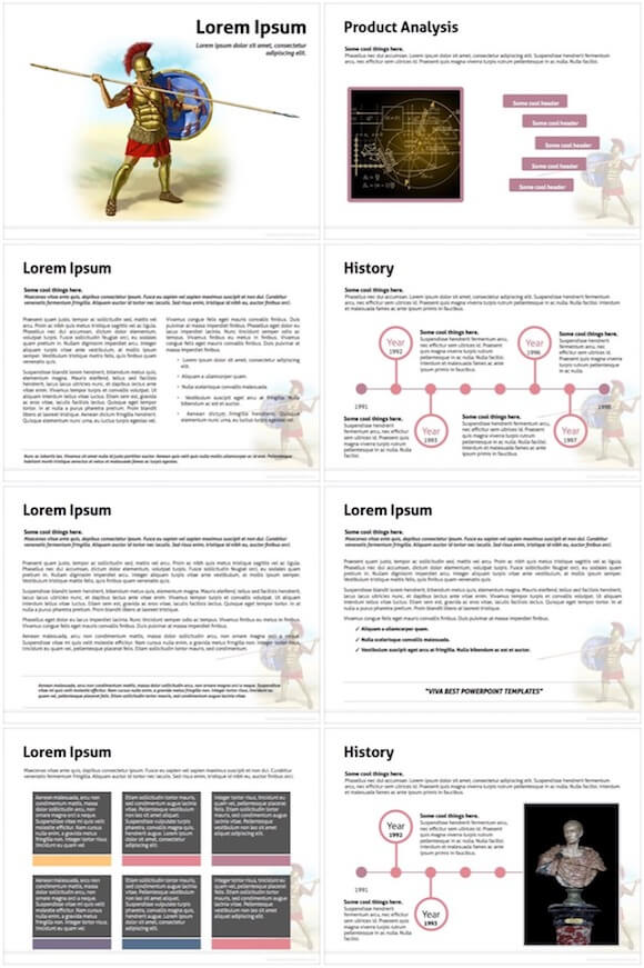 064 Roman Empire Powerpoint Template - Roman Empire