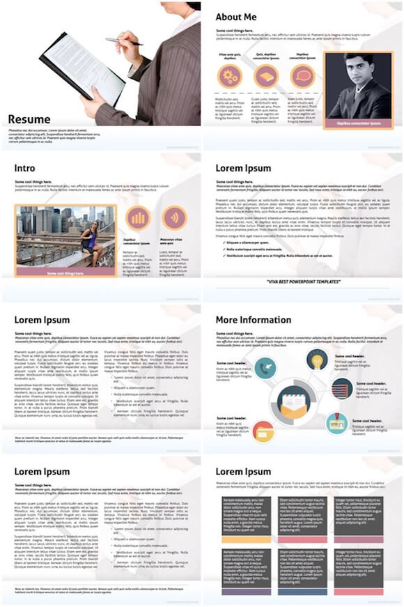 071 Resume Powerpoint Template - Candidate