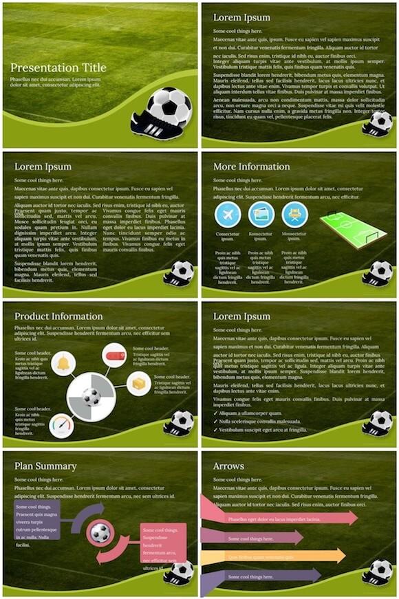 084 Football PowerPoint Template - Football