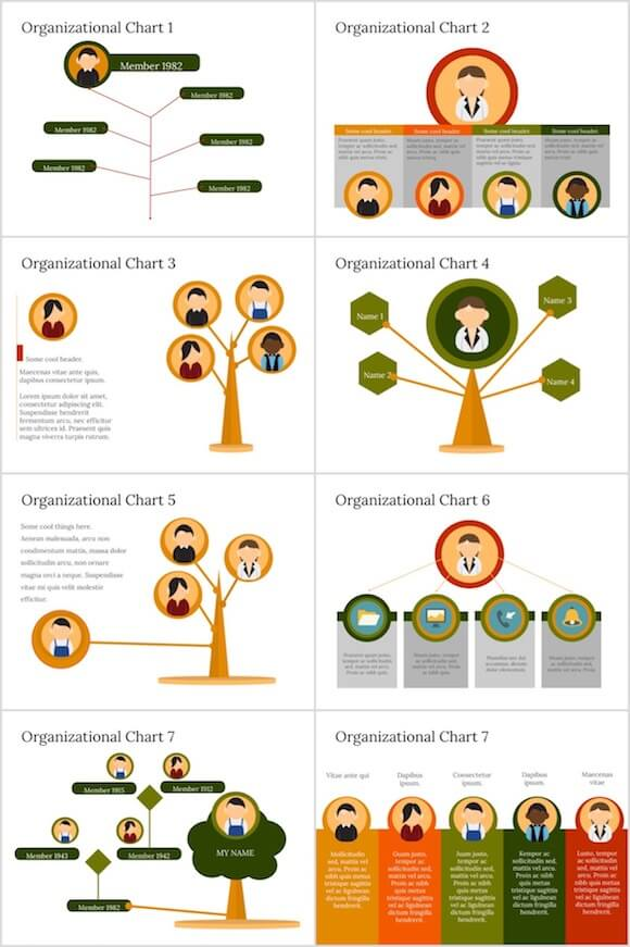 085 PowerPoint Organizational Chart - Organizational Chart