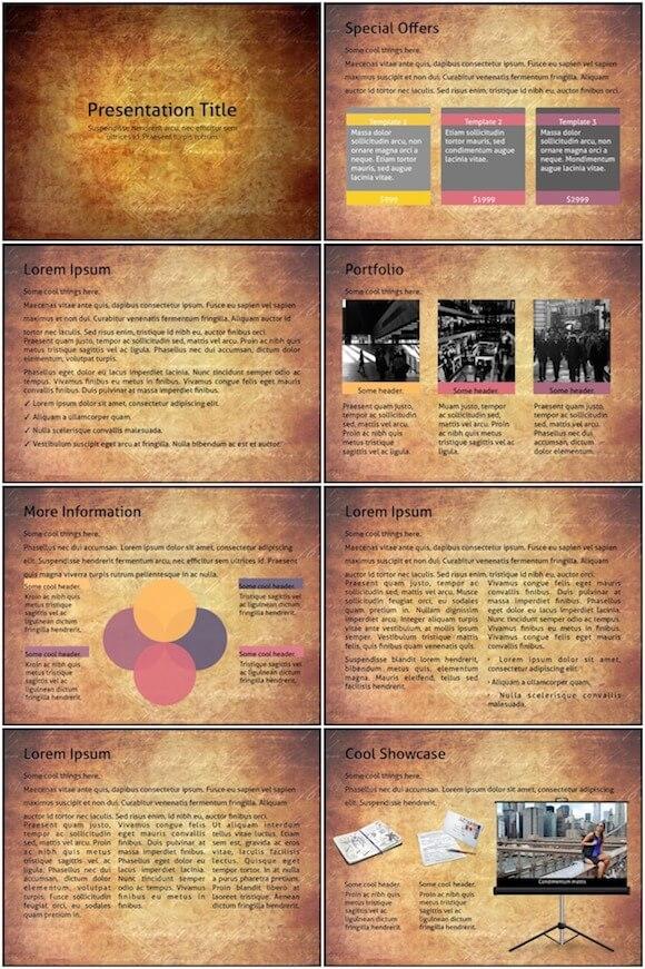 094 Vintage PowerPoint Template - Vintage