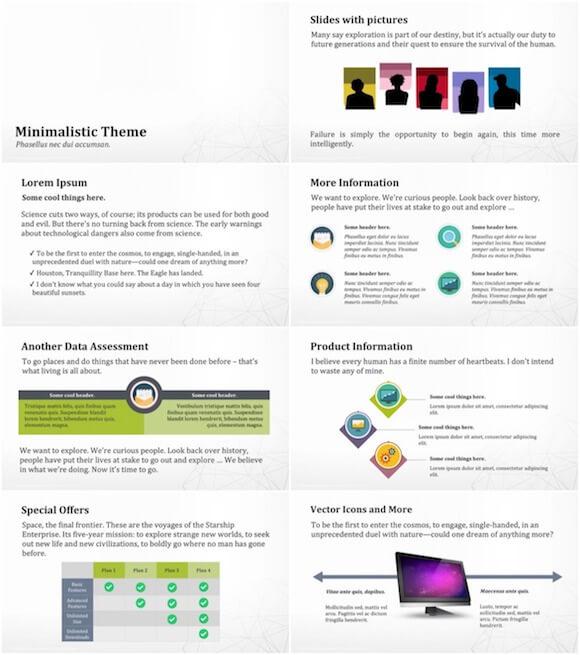 130 Minimalistic PowerPoint Template - Minimalistic