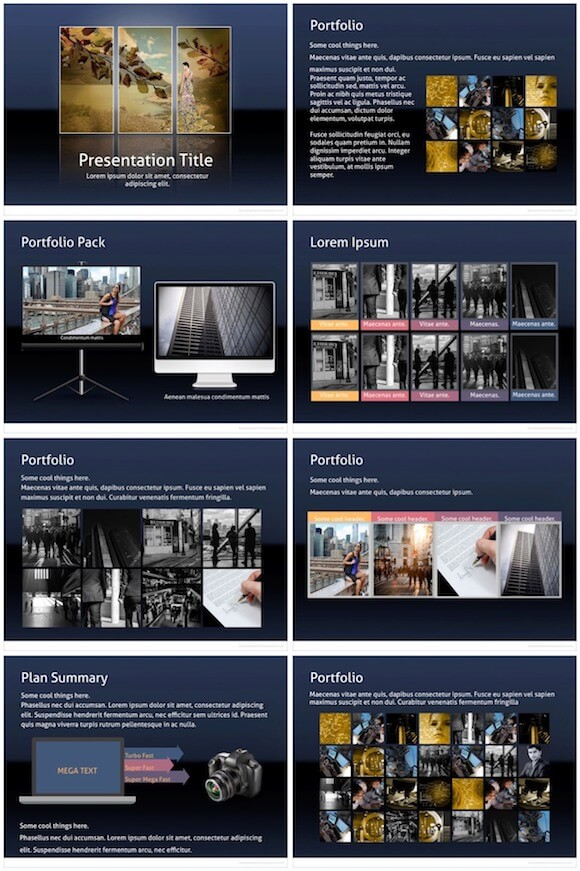 136 PowerPoint Gallery Template - Gallery Pack