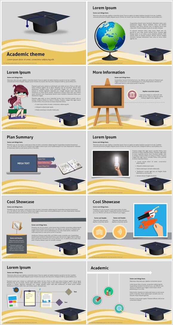 167 Academic PowerPoint Template - Graduate