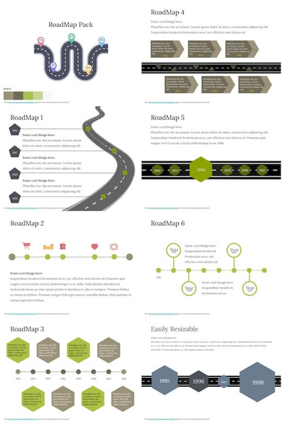 Free Roadmap Powerpoint Template from bestpowerpointtemplates.com