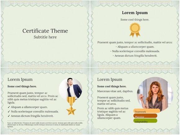 222 Certificate PowerPoint Template - Certificate