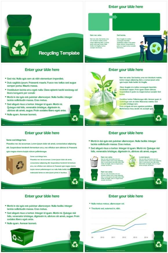 239 Recycling PowerPoint Template - Recycling
