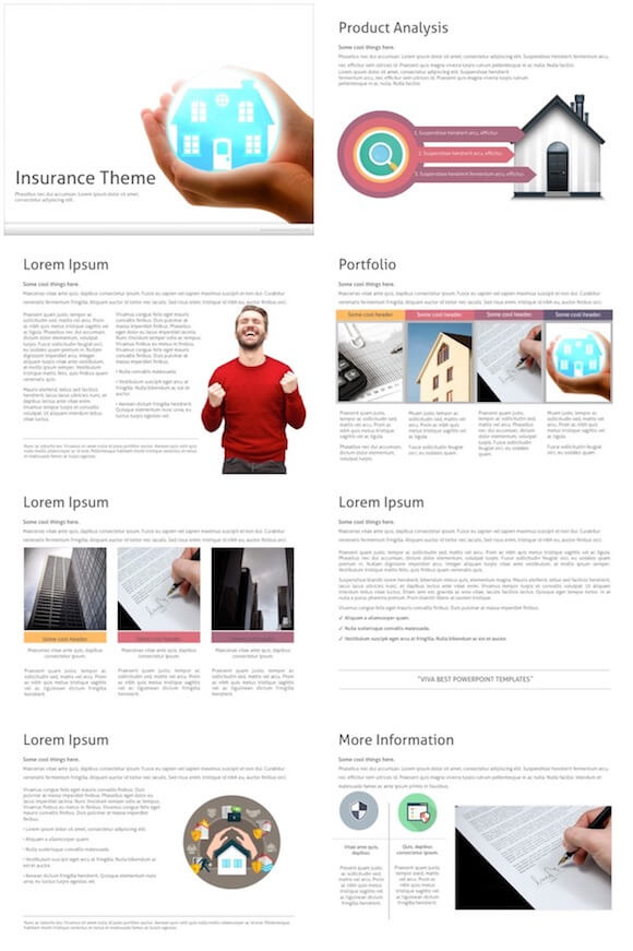 242 House Insurance PowerPoint Template - House Insurance