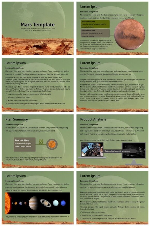 244 Mars PowerPoint Template - Planet Mars