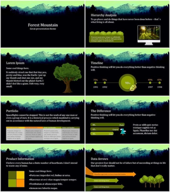 260 Forest PowerPoint Template - Forest