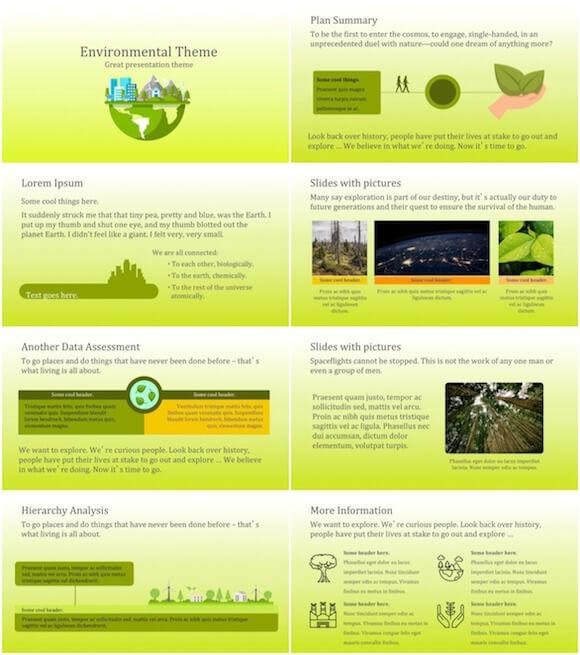 261 Environment PowerPoint Template - Green Environment
