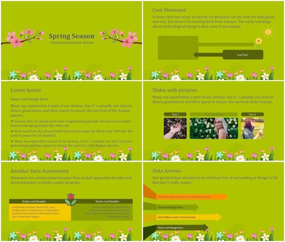 262 Spring PowerPoint Template - Spring