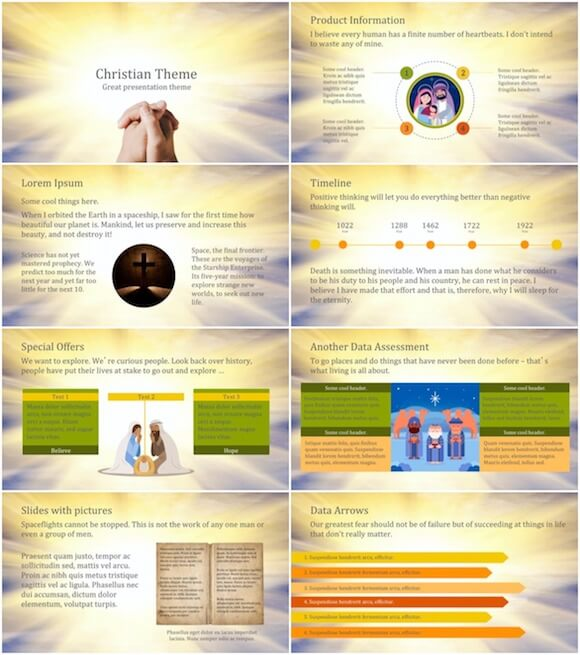 263 Christian PowerPoint Template - Christian Light