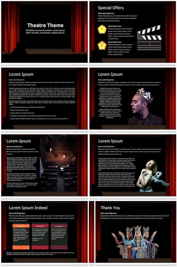 272 Theatre PowerPoint Template - Theatre