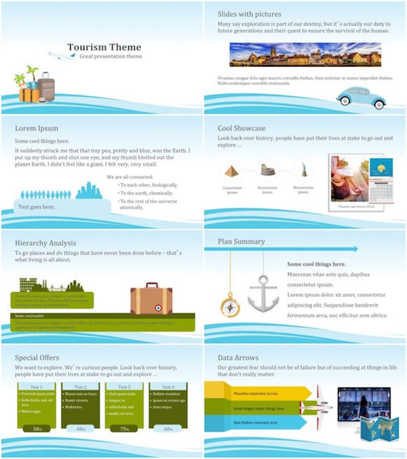 274 Tourism PowerPoint Template - Tourism