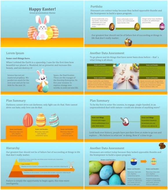 275 Easter Festival PowerPoint Template - Easter Eggs