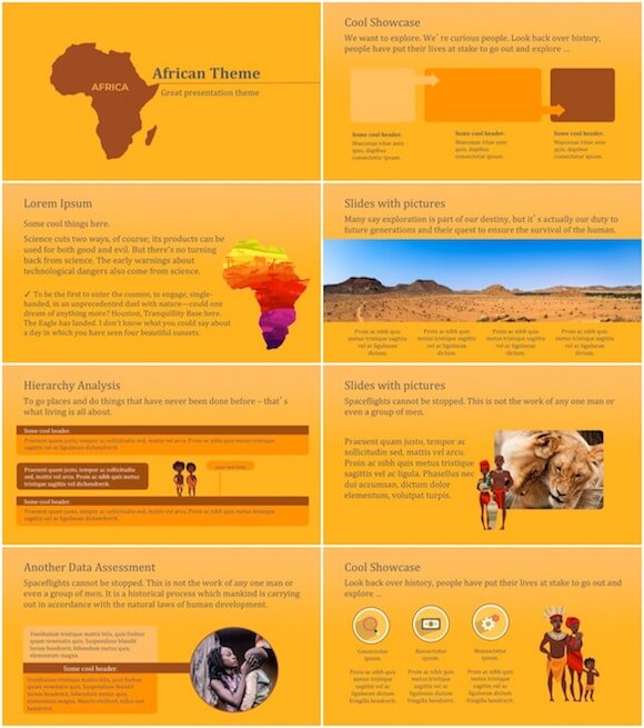 276 Africa PowerPoint Template - Africa