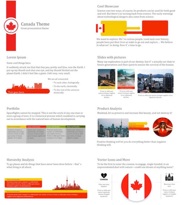 277 Canada PowerPoint Template - Canada