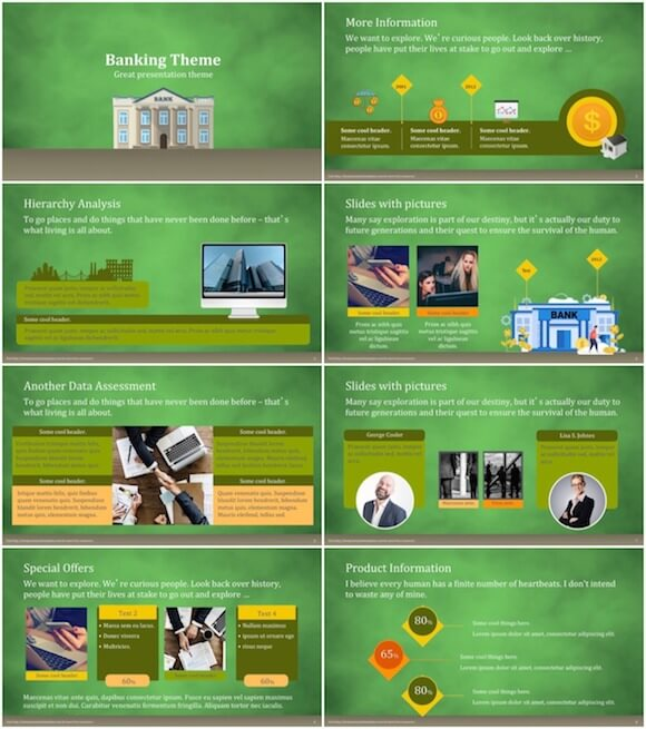 282 Banking PowerPoint Template - Bank
