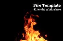 Fire PowerPoint Template - Fire