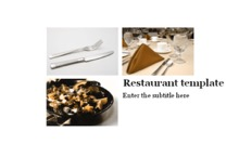 Restaurant Powerpoint Template 1 - Restaurant