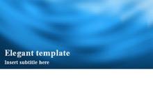 Elegant Powerpoint Template 1 - Blue Card