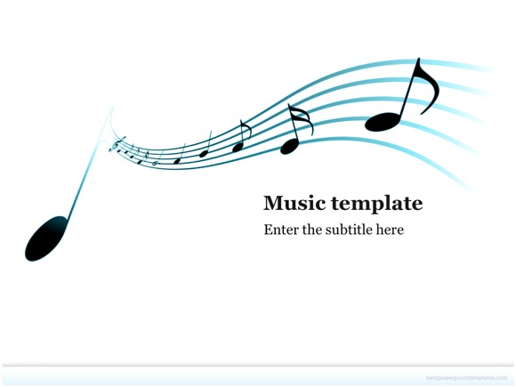 music powerpoint template - free!, Powerpoint templates
