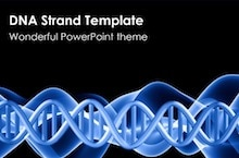 Double helix dna template for PowerPoint