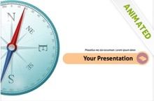 Geography Powerpoint Template 12 - Compass