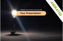 Light Bulb Powerpoint Template 12 - Light Bulb