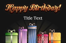 PowerPoint Birthday Template - Happy Birthday