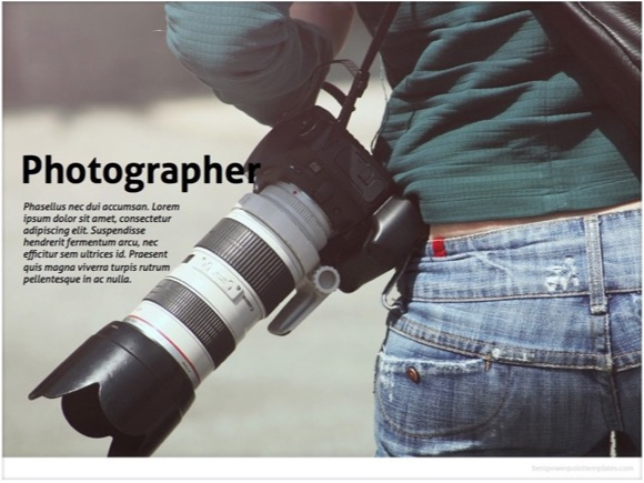 Photographer Powerpoint Template Free