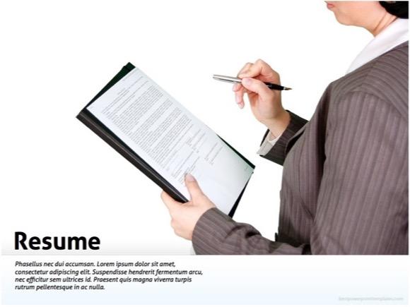 Resume powerpoint presentation templates