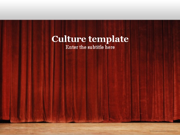 Free Culture PowerPoint template