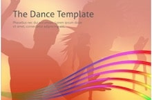 Music Dance PowerPoint Template - Music And Dance
