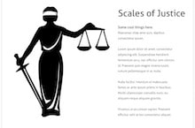 Scales Of Justice PowerPoint Template - Scales Of Justice