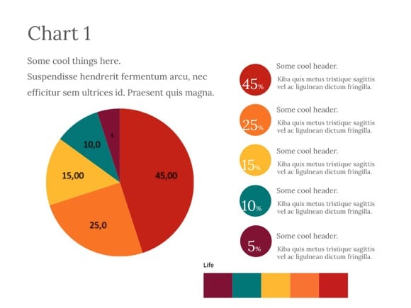 pie chart powerpoint template free