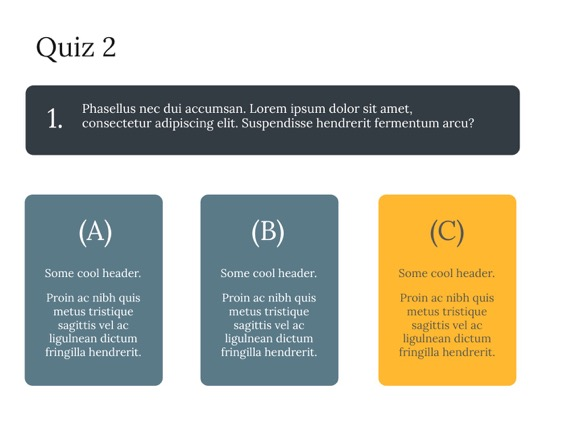 Powerpoint Quiz Template Powerpoint Template Free