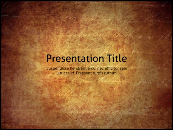 Vintage Powerpoint Template Free